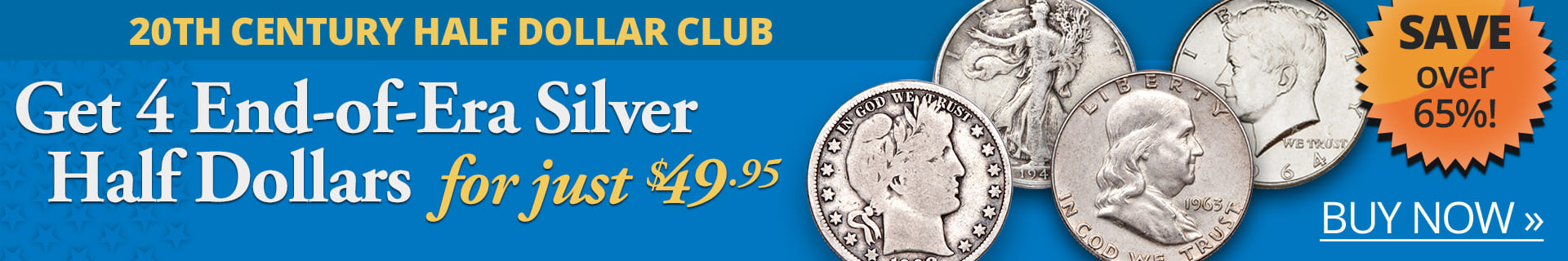 Get 3 End-of-Era Silver Half Dollars for just $19.95