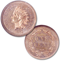 1859 Indian Head Cent, Variety 1