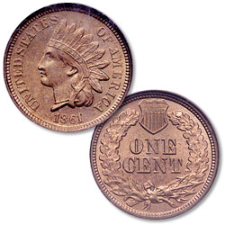 1861 Indian Head Cent, Variety 2
