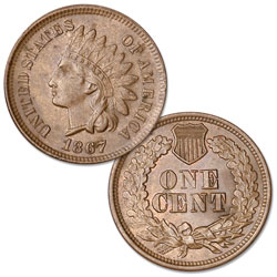 1867 Indian Head Cent, Variety 3