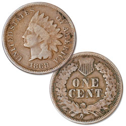 1868 Indian Head Cent, Variety 3