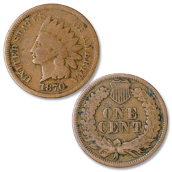 1870 Indian Head Cent