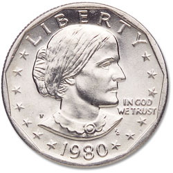 1980-P Susan B. Anthony Dollar
