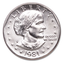 1981-P Susan B. Anthony Dollar
