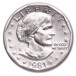 1981-S Susan B. Anthony Dollar