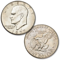 1977-D Eisenhower Dollar, Copper-Nickel Clad