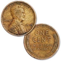 1910 Lincoln Head Cent