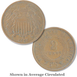1867 Two-Cent Piece
