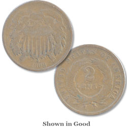 1868 Two-Cent Piece