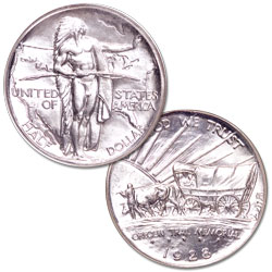 1928 Oregon Trail Memorial Silver Half Dollar