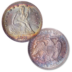 1877 Liberty Seated Quarter
