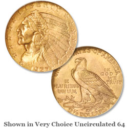 1927 Gold $2.50 Indian Head Quarter Eagle