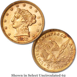 1878 $2.50 Liberty Head Gold Quarter Eagle