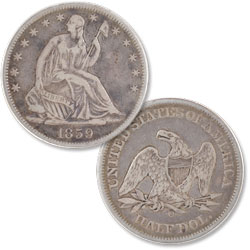 1859-O Liberty Seated Half Dollar