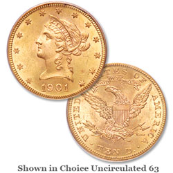 1901-S Liberty Head $10 Gold Eagle