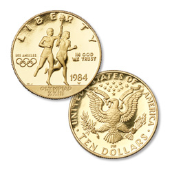 1984-W Los Angeles Olympiad Gold $10