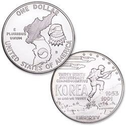 1991-D Korean War Memorial Silver Dollar