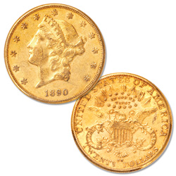 1890-CC Gold $20 Liberty Head Double Eagle