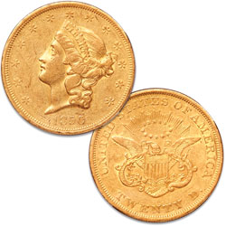 1850 Gold $20 Liberty Head
