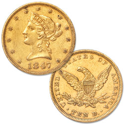 1847 $10 Liberty Head Gold Piece