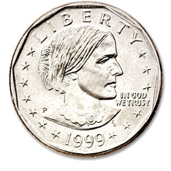 1999-P Susan B. Anthony Dollar