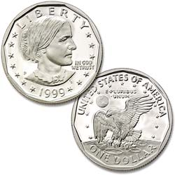 1999-P Susan B Anthony Dollar
