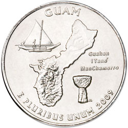 2009-P Guam Territories Quarter