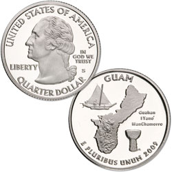 2009-S 90% Silver Guam Territories Quarter
