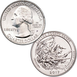 2017-P George Rogers Clark National Historical Park Quarter