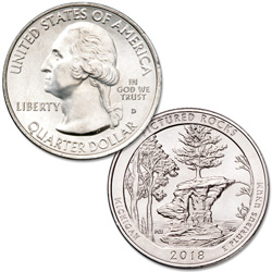 2018-D Pictured Rocks National Lakeshore Quarter
