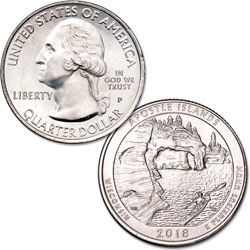 2018-P Apostle Islands National Lakeshore Quarter