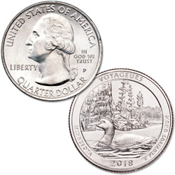 2018-P Voyageurs National Park Quarter