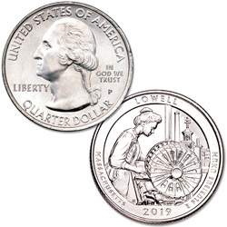 2019-P Lowell National Historical Park Quarter