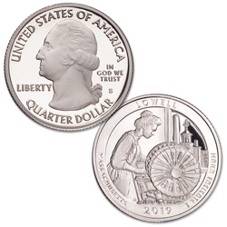2019-S 99.9% Silver Lowell National Historical Park Quarter