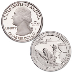 2019-S 99.9% Silver War in the Pacific National Historical Park Quarter