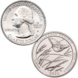 2020-P Tallgrass Prairie National Preserve Quarter