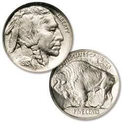 1913 Buffalo Nickel, Variety 1, Raised Mound