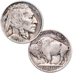 1918-D Buffalo Nickel, 8 Over 7