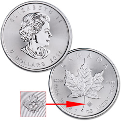 2016 Canada Silver $5 Maple Leaf