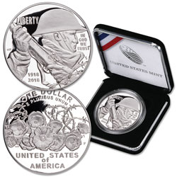2018-P World War I Commemorative Silver Dollar