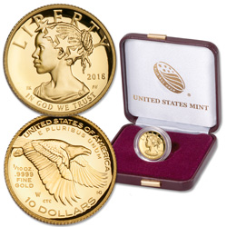 2018-W 1/10 oz. Gold $10 American Liberty
