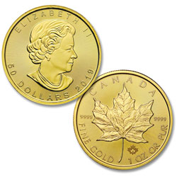 2019 Canada Gold 1 oz. $50 Maple Leaf
