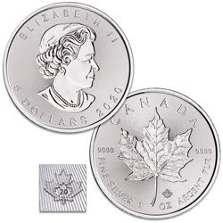 2020 Canada Silver $5 Maple Leaf