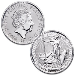 2020 Great Britain 1 oz. Silver £2 Britannia
