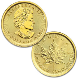 2020 Canada Gold 1/10 oz. $5 Maple Leaf