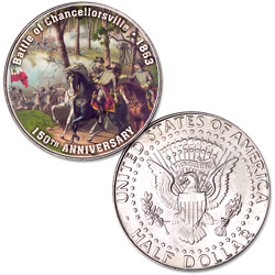 Colorized Civil War Kennedy Half Dollar Battle of Chancellorsville