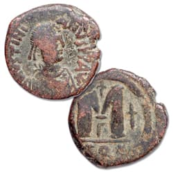A.D. 527-565 Justinian I Copper Follis