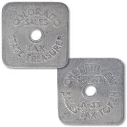 Colorado 1/5¢  Aluminum State Tax Token