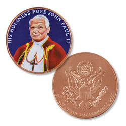 Colorized Pope John Paul II Medal