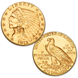 1908-1929 Indian Head $2.50 Gold Quarter Eagle